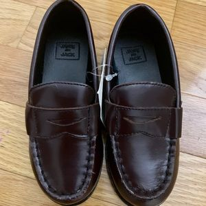 NWT JANIE & JACK Leather Loafers